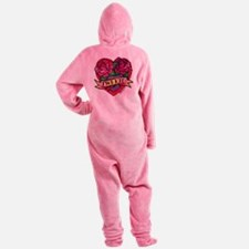 twilight twi-kid tattoo heart Footed Pajamas