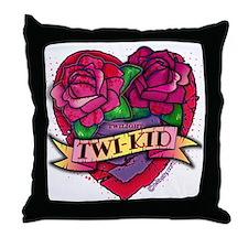 twilight twi-kid tattoo heart Throw Pillow