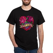 twilight twi-kid tattoo heart T-Shirt