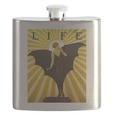 Art Deco Bat Lady Pin Up Flapper Flask