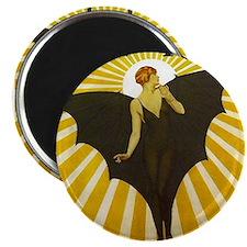 Art Deco Bat Lady Pin Up Flapper Magnets