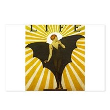 Art Deco Bat Lady Pin Up Flapper Postcards (Packag