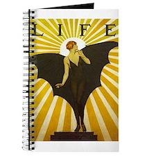Art Deco Bat Lady Pin Up Flapper Journal