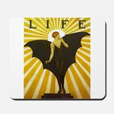 Art Deco Bat Lady Pin Up Flapper Mousepad