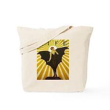 Art Deco Bat Lady Pin Up Flapper Tote Bag