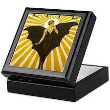 Art Deco Bat Lady Pin Up Flapper Keepsake Box
