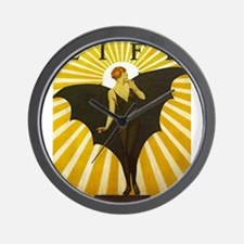 Art Deco Bat Lady Pin Up Flapper Wall Clock