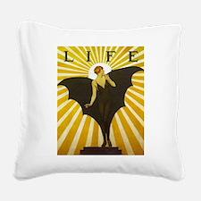 Art Deco Bat Lady Pin Up Flapper Square Canvas Pil