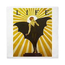 Art Deco Bat Lady Pin Up Flapper Queen Duvet
