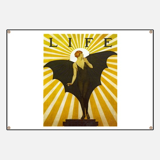 Art Deco Bat Lady Pin Up Flapper Banner
