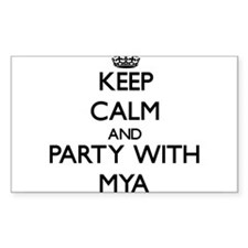Keep Calm and Party with Mya Decal
