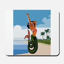 Mermaid Pin Up on Beach Tropic 1950s Retro Mousepa