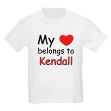 My heart belongs to kendall Kids T-Shirt