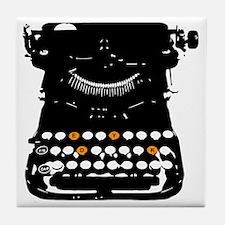 dyketype_white Tile Coaster
