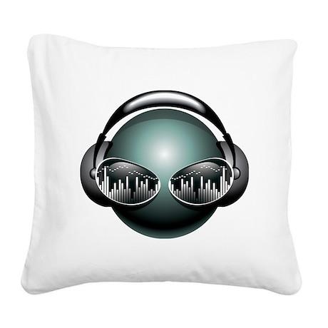 dj3 Square Canvas Pillow