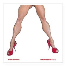 """NEW SHOES? Square Car Magnet 3"""" x 3"""""""
