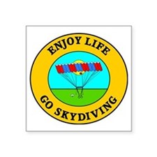 "skydiving3 Square Sticker 3"" x 3"""