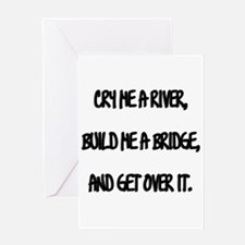 Cry Me a River Greeting Card