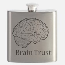 Brain Trust Black Flask