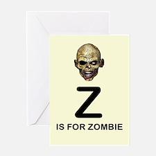 Z is for Zombie Childrens Alphabet Illustration Gr