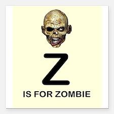 Z is for Zombie Childrens Alphabet Illustration Sq