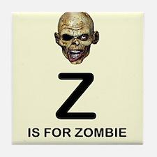Z is for Zombie Childrens Alphabet Illustration Ti