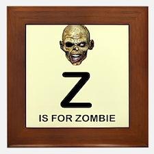 Z is for Zombie Childrens Alphabet Illustration Fr