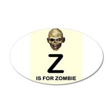 Z is for Zombie Childrens Alphabet Illustration Wa