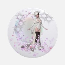 Wiccan Hand fasting Burlesque style Round Ornament