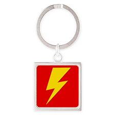 The Flash Lightning Bolt Square Keychain