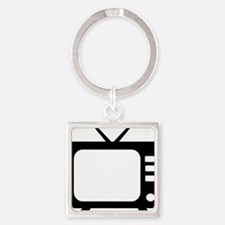 tv Square Keychain