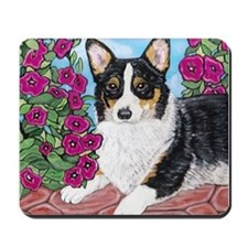 Corgi with Flowers Mousepad