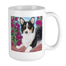Corgi with Flowers Mugs