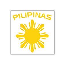 "philipines2 Square Sticker 3"" x 3"""