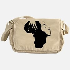 Africa and Woman Messenger Bag