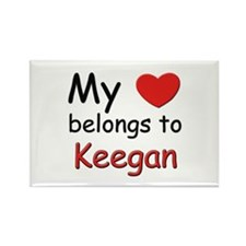 My heart belongs to keegan Rectangle Magnet