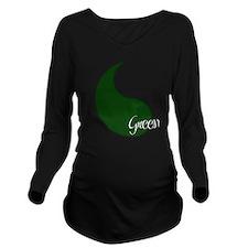 Funny Dork Long Sleeve Maternity T-Shirt