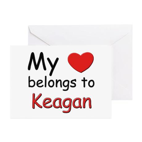 My heart belongs to keagan Greeting Cards (Package