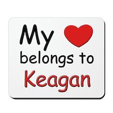 My heart belongs to keagan Mousepad