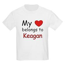 My heart belongs to keagan Kids T-Shirt
