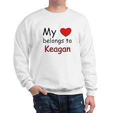 My heart belongs to keagan Sweatshirt