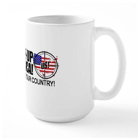 anti obama bumper sticker Large Mug