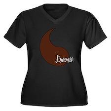 Cute Geek nerd dork Women's Plus Size V-Neck Dark T-Shirt