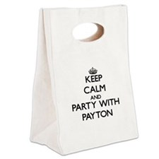 Keep Calm and Party with Payton Canvas Lunch Tote