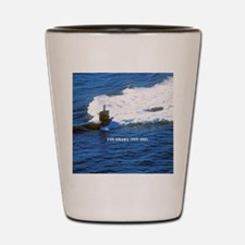 omaha framed panel print Shot Glass