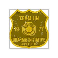 "team jin Square Sticker 3"" x 3"""