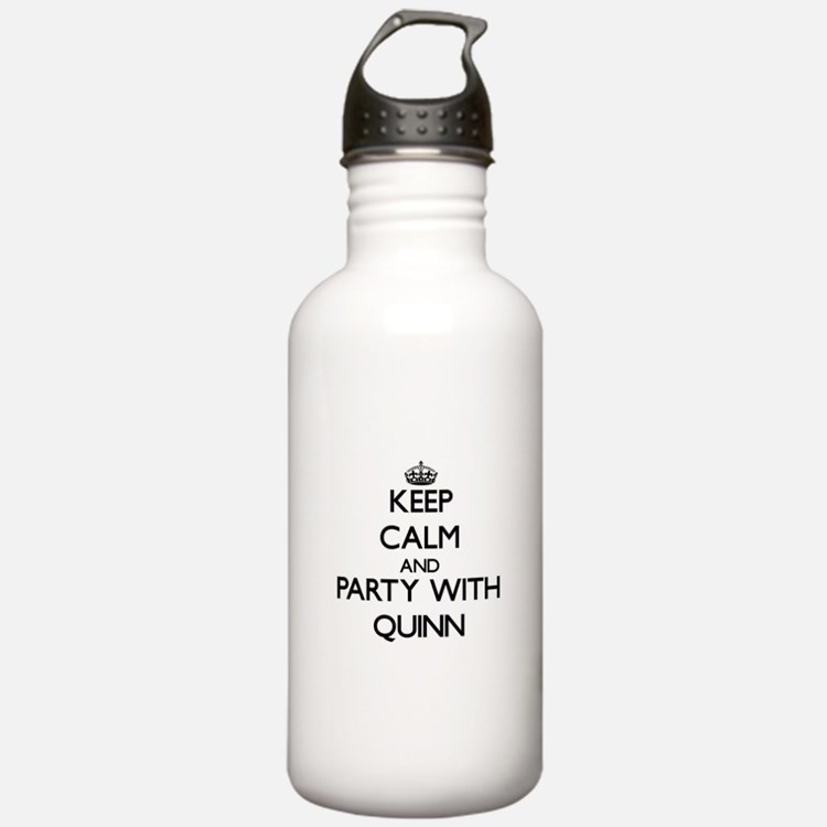 Keep Calm and Party with Quinn Water Bottle