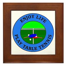 table tennis4 Framed Tile