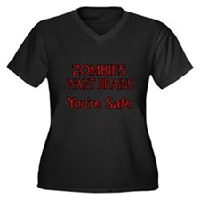 ZOMBIES WANT BRAINS Plus Size T-Shirt