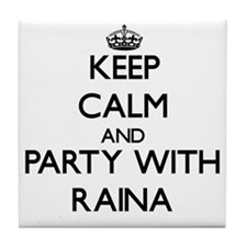 Keep Calm and Party with Raina Tile Coaster